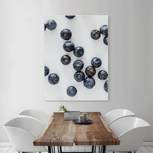Blueberries 2 - large size - white frame