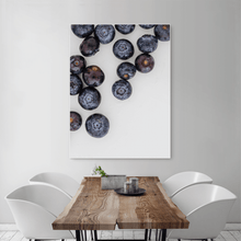 Load image into Gallery viewer, Blueberries 1 - large size - white frame