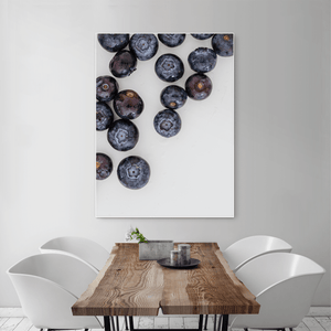 Blueberries 1 - large size - white frame