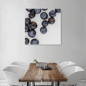 Blueberries 1 - large square size - white frame