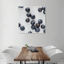 Load image into Gallery viewer, Blueberries 2 - large square size - white frame