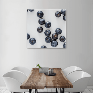 Blueberries 2 - large square size - white frame