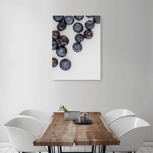 Blueberries 1 - medium size - white frame