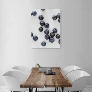 Blueberries 2 - medium size - white frame
