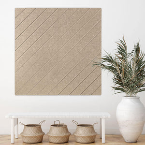 Diagonal Lines Light Camel
