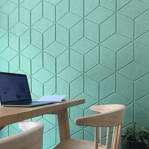Hexagon panel for home office space