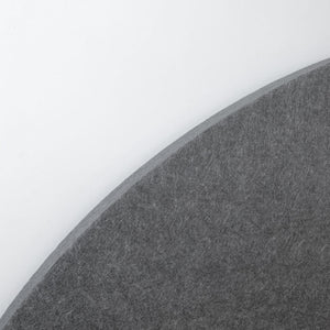 Grey circle felt panel closeup