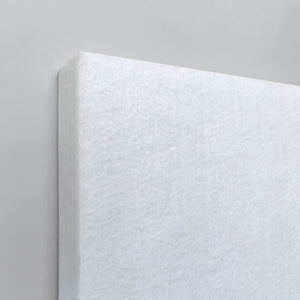 White wall panel closeup
