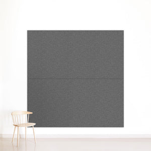 Two grey panels on wall
