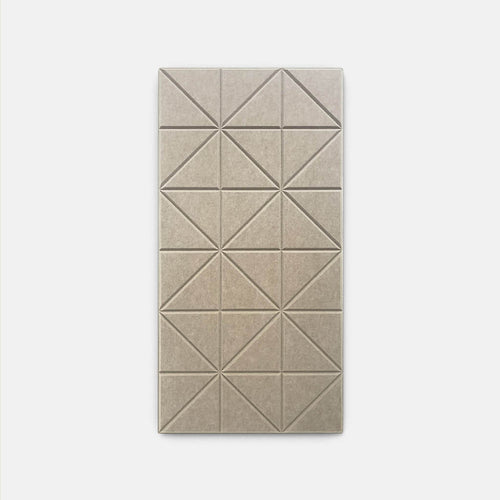 Sound absorbing geometric panel