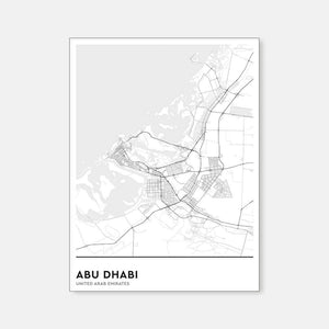 Map : Abu Dhabi