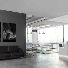Reception - Mute Felt suspended from ceiling and Mute Pictures on wall
