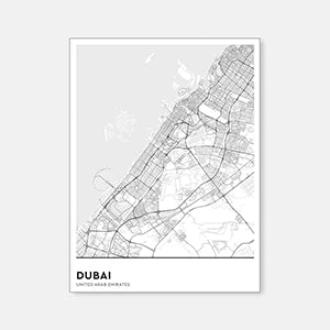 Mute's sound absorbing picture with Dubai's map print