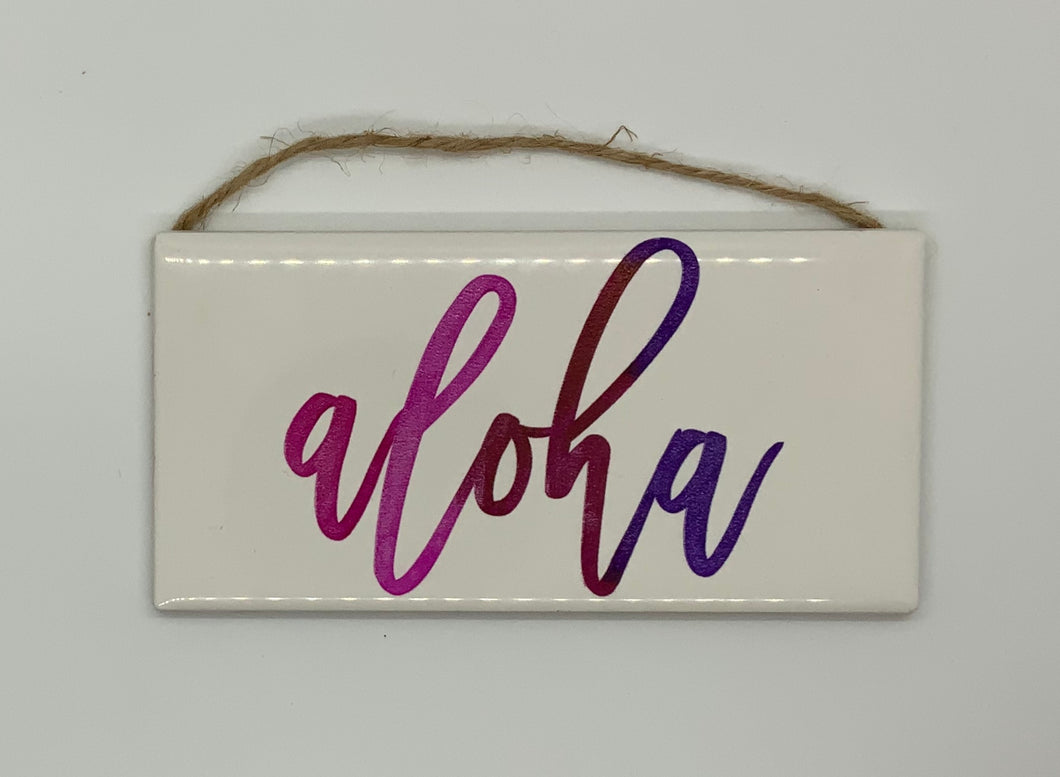 Aloha Ceramic Tile Wall Decor