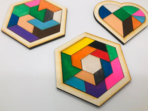 Paint it yourself tangrams
