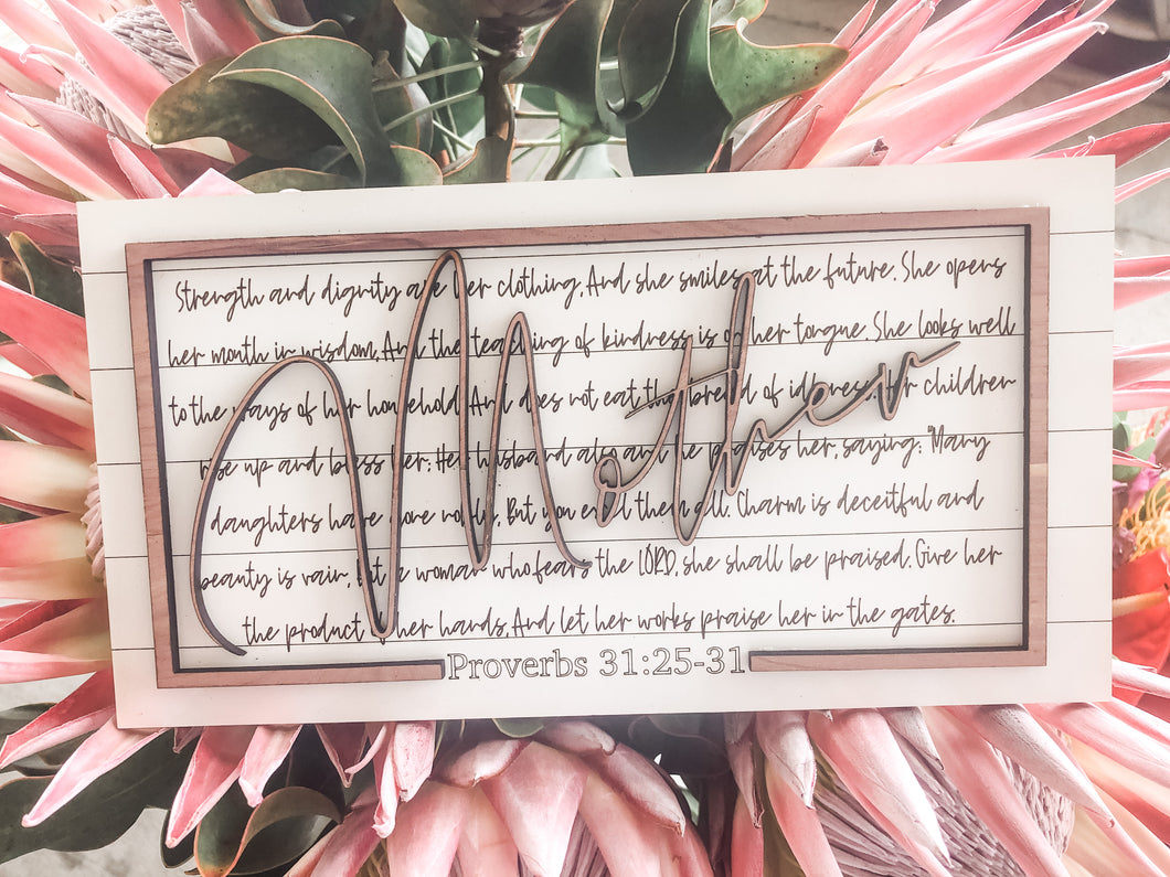 Mother's Day Proverbs 31 Sign