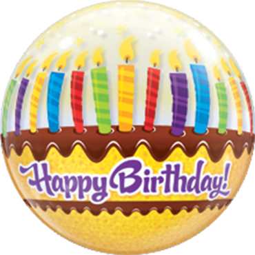 Birthday Candle Bubble Ballon