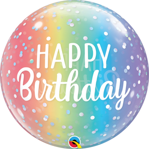 Birthday Ombre & Dots Bubble Ballon