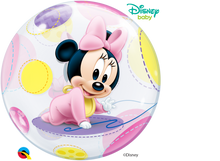 Laden Sie das Bild in den Galerie-Viewer, Disney Baby Minnie Mouse Bubble Ballon heliumgefüllt