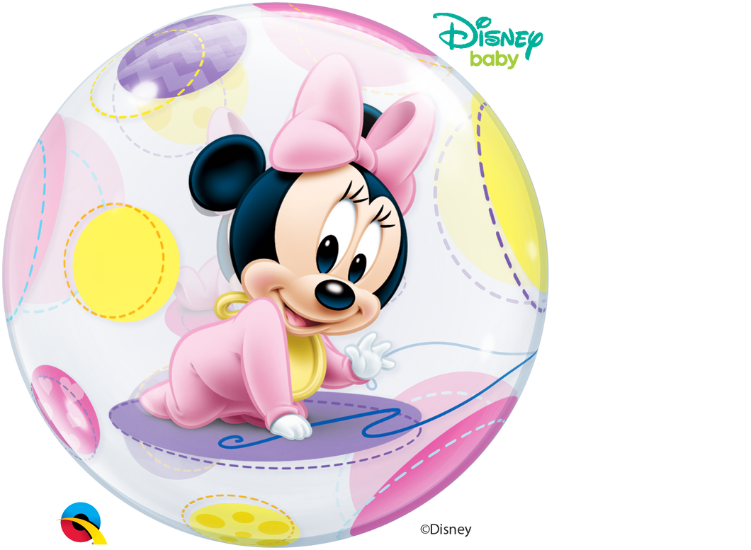 Disney Baby Minnie Mouse Bubble Ballon heliumgefüllt