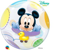 Laden Sie das Bild in den Galerie-Viewer, Disney Baby Mickey Mouse Bubble Ballon heliumgefüllt