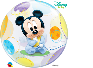 Disney Baby Mickey Mouse Bubble Ballon heliumgefüllt