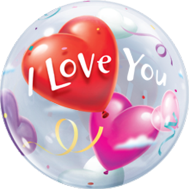 I love You Bubble Ballon heliumgefüllt
