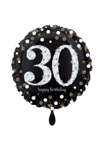 Sparkling Birthday 30 Folienballon 45cm