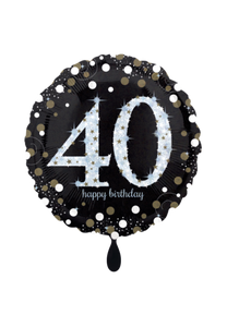 Sparkling Birthday 40 Folienballon 45cm