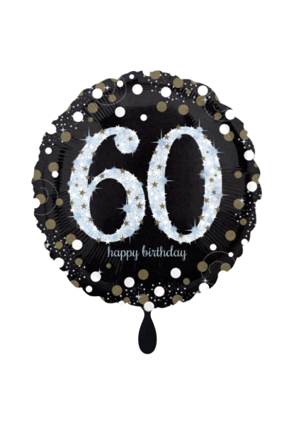 Sparkling Birthday 60 Folienballon 45cm