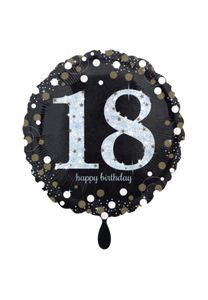 Sparkling Birthday 18 Folienballon 45cm