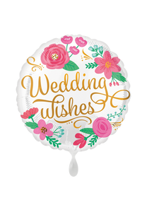 Wedding Wishes Folienballon 45cm