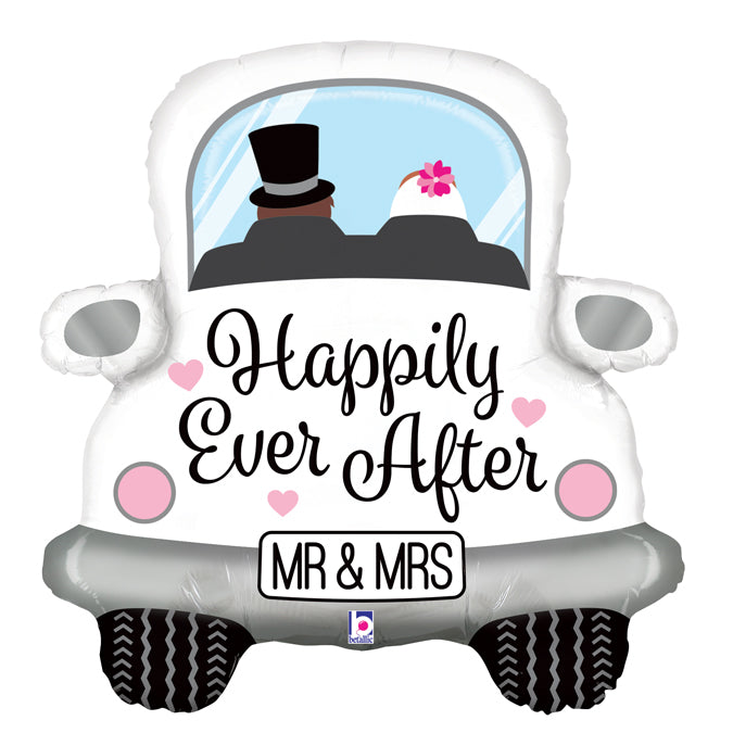 Happily Ever After Car Folienballon 79cm heliumgefüllt