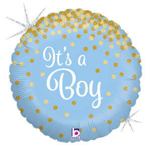 It's a Boy gold gepunktet Folienballon 45cm