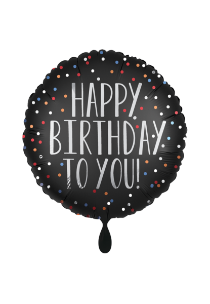 Happy Birthday Satin Dots Folienballon 45cm