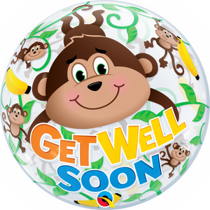 Get Well Soon Bubble Ballon heliumgefüllt
