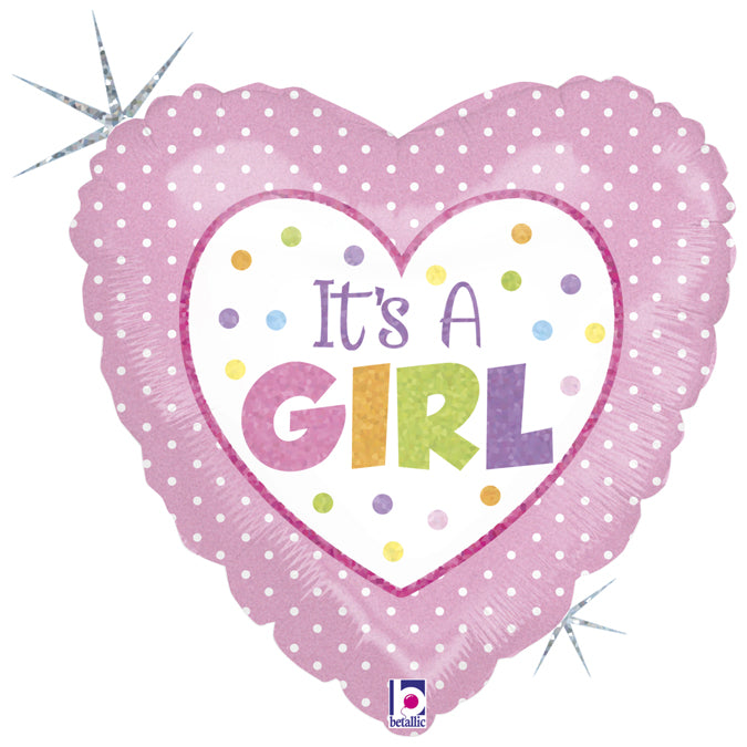It's a Girl Herz Folienballon 45cm