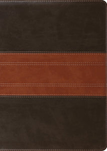 ESV Study Bible, Large Print (TruTone, Forest/Tan, Trail Design)