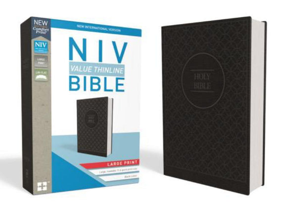 NIV Thinline Bible Large Print Charcoal/Black