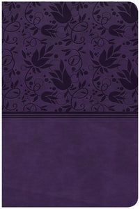CSB Compact Ultrathin Reference Bible, Purple LeatherTouch