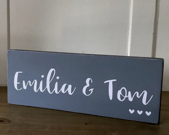 Couples Names | Personalised Handmade Wood Sign