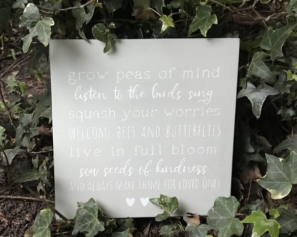 Garden Rules - Handmade Wooden Garden Decor Sign Plaque