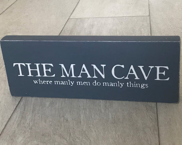 The Man Cave | Handmade Wooden Sign