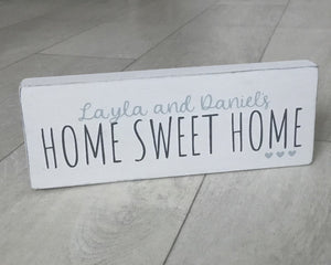 Home Sweet Home | Personalised Handmade Wooden Sign