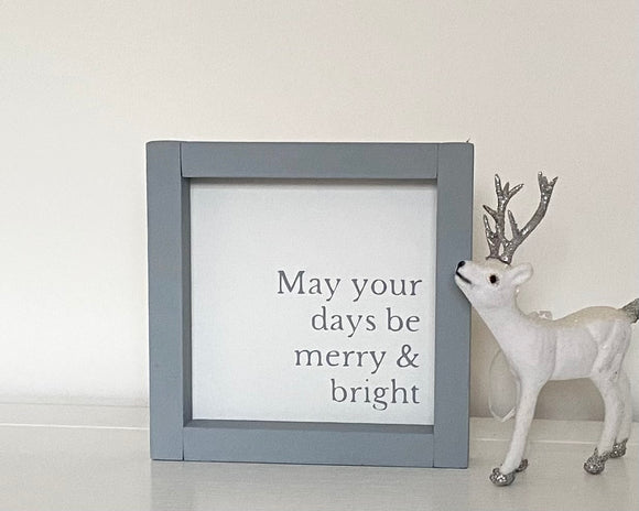 Merry & Bright Wooden Sign