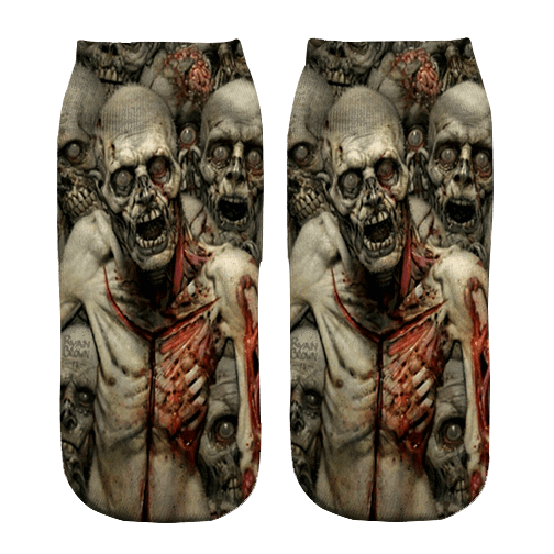 Zombie Invasion Print ankle socks - DopeSoxOfficial