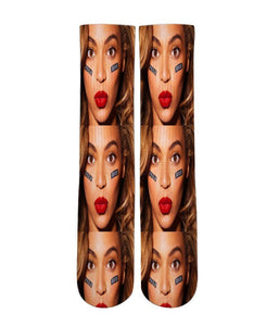 Beyonce printed crew socks - DopeSoxOfficial