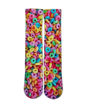 Fruit Loops cereal printed Socks - DopeSoxOfficial