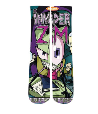 Elite printed socks-Invader zim socks