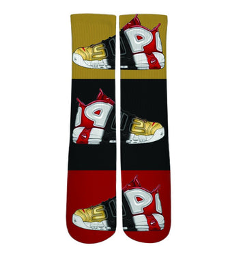 Cool socks for men-Nike air uptempo sneaker socks